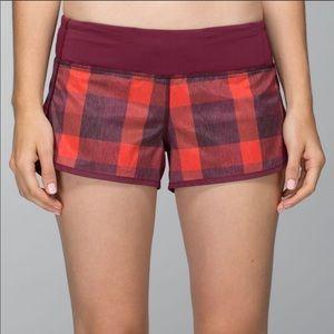 Lululemon Speed Shorts Red Size 4